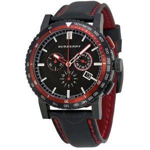 New Burberry Leather Chrono Men's Bu9803 Watch